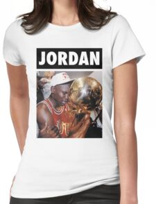 Michael Jordan (Championship Trophy) Womens Fitted T-Shirt