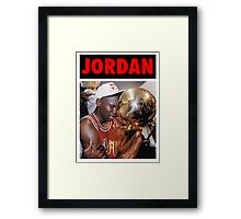 Michael Jordan (Championship Trophy Red) Framed Print