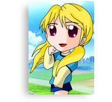 chibi blond girl Canvas Print