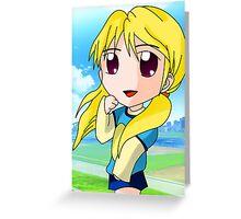 chibi blond girl Greeting Card
