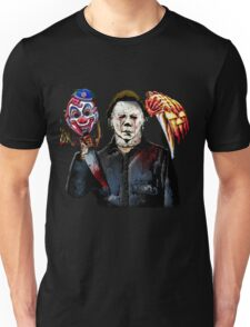 michael myers- past present - masks Unisex T-Shirt