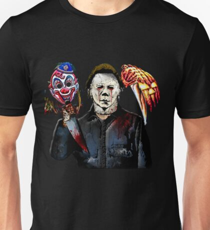 michael myers- past present - masks Unisex T-Shirt