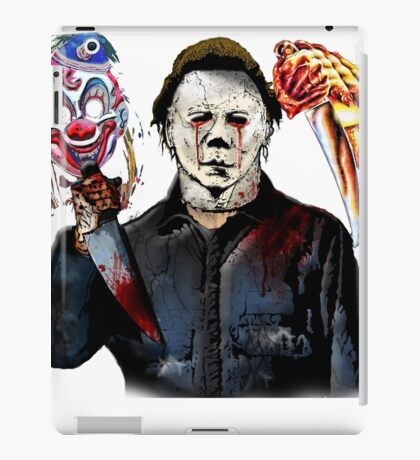 michael myers- past present - masks iPad Case/Skin