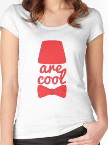 Bowties/Fezzes are Cool Women's Fitted Scoop T-Shirt