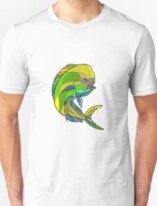 Mahi-Mahi Dorado Dolphin Fish Drawing T-Shirt