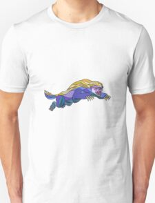 Honey Badger Jumping Drawing T-Shirt