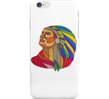Native American Indian Chief Headdress Drawing iPhone Case/Skin