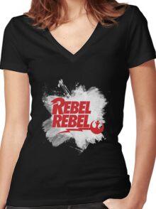 Rebel Rebel Alliance Women's Fitted V-Neck T-Shirt