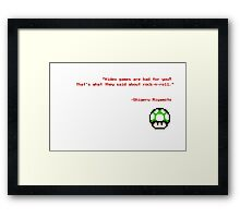 """""""Video games are bad for you?"""" Framed Print"""