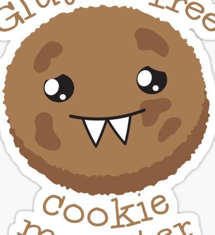 Gluten Free Cookie Monster with cute kawaii biscuit Sticker
