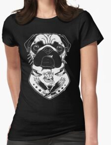 Tattooed Dog - Pug Womens Fitted T-Shirt