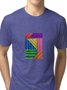 Neon Stripe Thingy Tri-blend T-Shirt