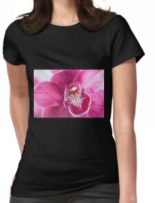 Purple Phaleanopsis Orchid Digital Art Womens Fitted T-Shirt