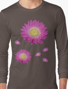 Pink Daisies Long Sleeve T-Shirt