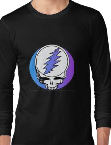 Grateful Dead Logo Blue and Purple Long Sleeve T-Shirt