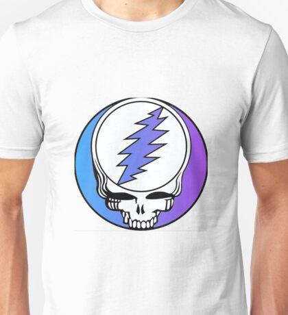 Grateful Dead Logo Blue and Purple Unisex T-Shirt