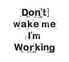 """Don't wake me, I'm working!""  Photographic Print"