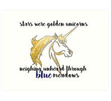 Starry Unicorns Art Print
