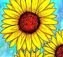 Sunflower Triple Cheer by Michelle DeLore