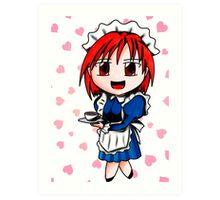 chibi maid Art Print