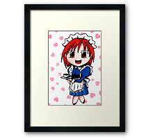 chibi maid Framed Print