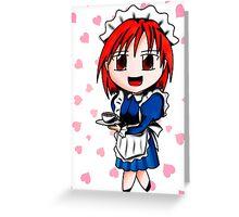 chibi maid Greeting Card