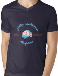 He Was Number One Mens V-Neck T-Shirt