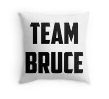 Team Bruce - Black on White Throw Pillow