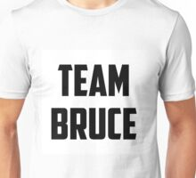 Team Bruce - Black on White Unisex T-Shirt