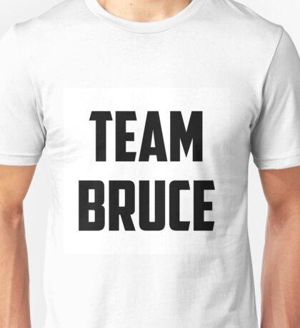 Team Bruce - Black on White Unisex T-Shirt