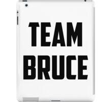 Team Bruce - Black on White iPad Case/Skin