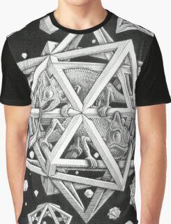 MC Escher Halftone Graphic T-Shirt