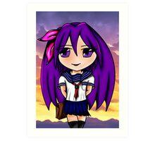 chibi schoolgirl Art Print