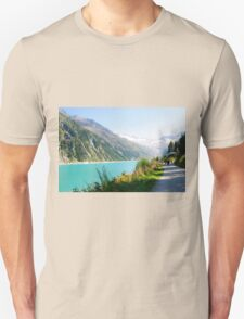 Schlegeis dam and reservoir with the Schlegeis glacierin the background T-Shirt