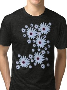 White Daisy with Purple Center Tri-blend T-Shirt