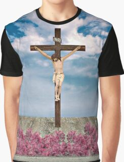 Jesus on the Cross Illustration Graphic T-Shirt