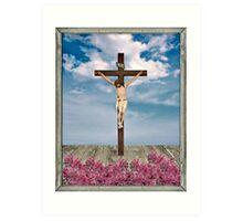 Jesus on the Cross Illustration Art Print