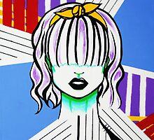 Bandana Girls- Pop art set 1/3 by Kristina Drinkwater