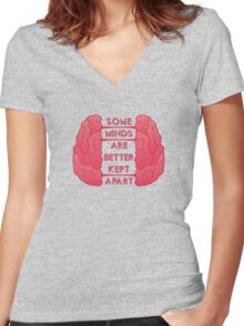 Some Minds Women's Fitted V-Neck T-Shirt