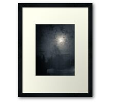 Fog and Moon Framed Print
