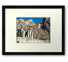 Temple of Apollo st Delphi UNESCO World Heritage Site Greece Framed Print