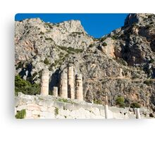 Temple of Apollo st Delphi UNESCO World Heritage Site Greece Canvas Print