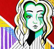 Bandana Girls- Pop art set 2/3 by Kristina Drinkwater
