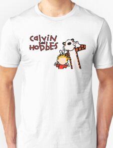Minimalist Calvin and Hobbes Unisex T-Shirt