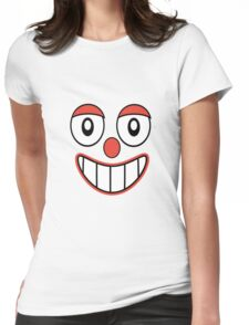 Happy Clown Cartoon Drawing Womens Fitted T-Shirt