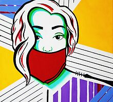 Bandana Girls- Pop art set 3/3 by Kristina Drinkwater
