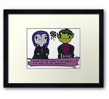 Character Love #2 Framed Print
