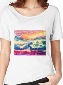Starry Night Ocean and Water Cavern!  Women's Relaxed Fit T-Shirt
