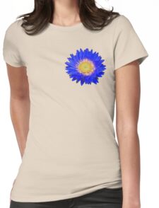 Daisy - Blue and Yellow Womens Fitted T-Shirt
