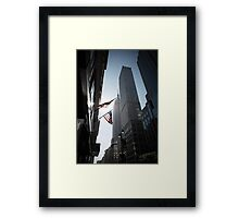 The Flags. Empire State Building, New York. Framed Print